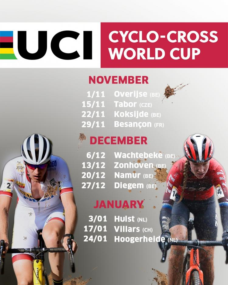 Revised calendar of the 2020   2021 UCI Cyclo cross World Cup to